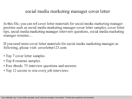 social media marketing manager cover letter in this file you can ref cover letter materials marketing manager cover letters