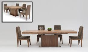 extendable dining table set square