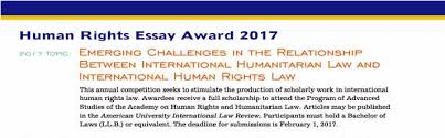 human rights essay award for scholarly work in international    human rights essay award for scholarly work in international human rights law