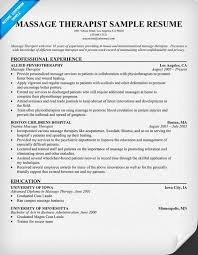 sample resume for massage therapist gopitch co massage therapy resume examples