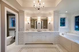 lighting view in gallery marble flooring chandeliers and tasteful cabinets make this bathroom truly indulgent bathroom chandelier lighting ideas