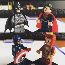 batman vs superman captain america vs iron man dc comics vs marvel comics lego batman superman iron man