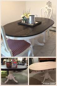 real rustic kitchen table long: farmhouse oval dining table  thrift store table refinished to fit my in progress