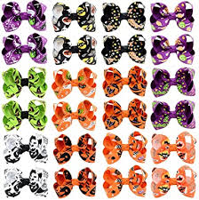 DeD 24PCS <b>Halloween</b> Hair Bows with Grosgrain Robbin Ghost ...