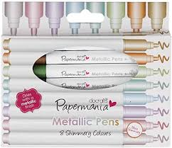 <b>Metallic</b> Pens by docrafts Papermaina, Pack of 8 <b>High Quality</b> ...