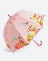 <b>Зонт</b>-трость для девочки <b>Djeco Цветочный сад</b>, DD04701, розовый