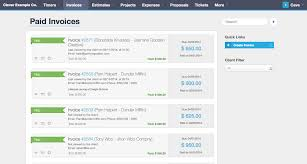 online invoicing time tracking and project management software list of invoices