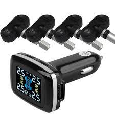 BIUYEE TP620 Wireless <b>Smart Car TPMS</b> 12V Digital Tire Pressure ...