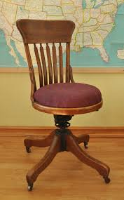 image of wood swivel desk chair antique deco wooden chair swivel