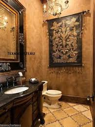 huge old world tuscan french fleur de lis bath bathroom vanity wall mirror new bathroompersonable tuscan style bed high