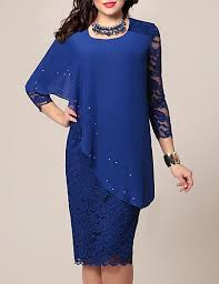 <b>Women's Bodycon</b> Dress Lace Chiffon Fashion <b>Spring</b> Blue Green ...