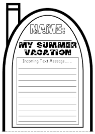 cell phone templates  write a text message about your summer vacation my summer vacation cell phone project templates top