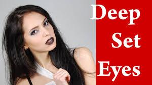 deep set hooded eyes makeup video tutorial with eyeliner part 3