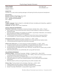 psychologist cv psychology resume samples