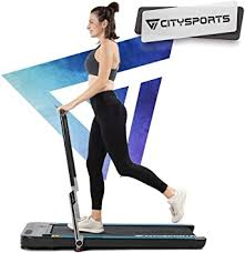 <b>CITYSPORTS</b> 440W Foldable <b>Treadmill</b>, Controllable Armrest and ...