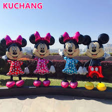 <b>1PC 175cm</b> 3D Giant <b>Mickey Minnie Mouse</b> Foil Balloon Pink Blue ...