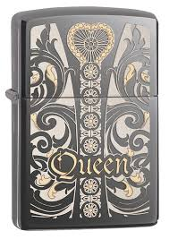 <b>Зажигалка ZIPPO Classic Queen</b> с покрытием Black Ice® - купить в ...