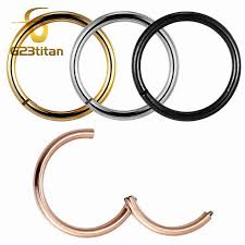 G23titan <b>Rose Gold</b> Color Septum Rings <b>G23 Titanium</b> Open Small ...