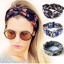 Floral Twist Headbands Stretch Cotton Girls <b>Turban</b> Sport Bandana ...