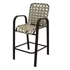 bar height patio chair: marco island dark cafe brown commercial grade aluminum bar height patio