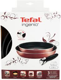 <b>Набор посуды TEFAL Ingenio</b> 3 пр: сковороды 24/28 + ручка ...