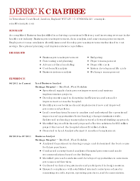 best business analyst resume example  livecareer