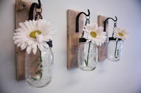 individual hanging mason jar wall decor by pineknobsandcrickets adore diy hanging mason jar
