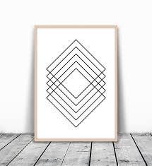 <b>Diamond Print</b>, Geometric Poster, Minimalist Poster, <b>Simple</b> ...