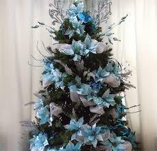 blue natural christmas tree decor