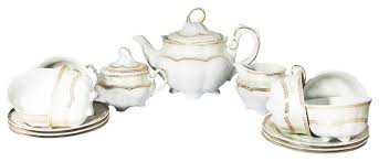 <b>Чайный сервиз Cmielow Bolero</b> (Вена Золото), 6 персон — купить ...