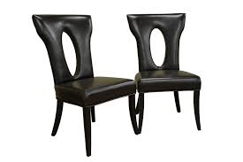 Faux Leather Dining Room Chairs Black Leather Dining Chairs On Faux Leather Living Room Furniture