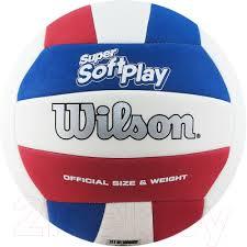 <b>Wilson Super</b> Soft Play / WTH90219XB (размер 5, белый/синий ...