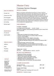 Example Resume  Sample Resume Customer Service Manager  good     Example Resume  Good Sample Resume Customer Service Manager With Personal Skills And Professional Experience