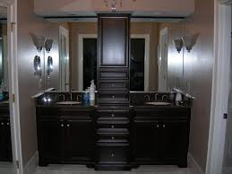stylish modern double sink vanity ideas for small spaces with dark brown varnish wood and available alluring bathroom sink vanity cabinet