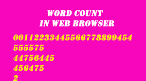 word count in web browser word count in web browser