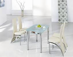 small dining tables sets: perfect modern furniture design inspiration small dining tables sets with cream upholstered chair and glass table
