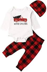 Efaster Toddler <b>Infant Boys</b> Girls Christmas Letters Pattern Romper ...