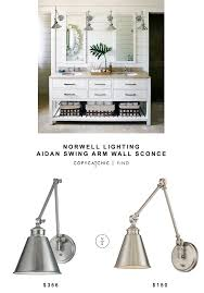 norwell lighting aidan swing arm wall sconce for 356 vs savoy house morland plished nickel sconce aidan swing arm wall