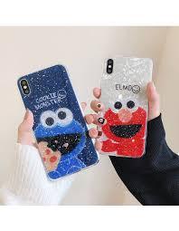 Cute <b>Sesame Street</b> Cookie Glitter <b>Phone</b> case for coque iPhone 7 7 ...
