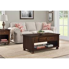 Wooden Living Room Furniture Dark Brown Wood Coffee Table Accent Tables Living Room