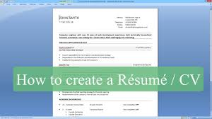 how to write a resume   cv   microsoft word   youtube