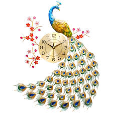 Павлин настенные <b>часы</b> для гостиной креативные модные <b>часы</b> ...