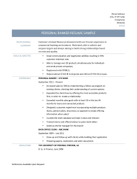 personal banker resume samples templates and job description personal banker resume samples
