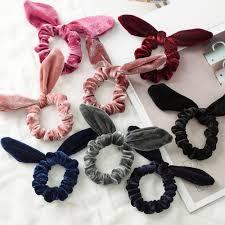 Best Price High quality <b>cute bunny</b> ear elastic hair ties ropes rubber ...