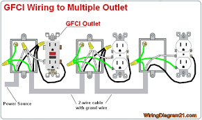 gfci outlet wiring diagram house electrical wiring diagram multiple gfci outlet wiring diagram electrical