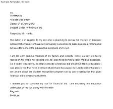 Sample Appeal Letter for Financial Aid   Sample Templates Sample Appeal Letter for Financial Aid
