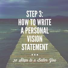 steps to a better you step how to write a personal vision a lot of us can see but how many of us have vision