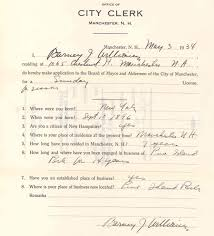 city clerk office of the sunday license application for pine island park concessions 1934