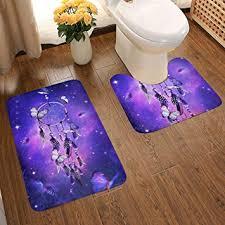 Vbcdgfg Bathroom Rugs Sets 2 Piece Purple <b>Dream Catcher</b> with ...