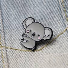 <b>DMLSKY</b> Cute Koala Brooches Funny Enamel Brooch For Women ...